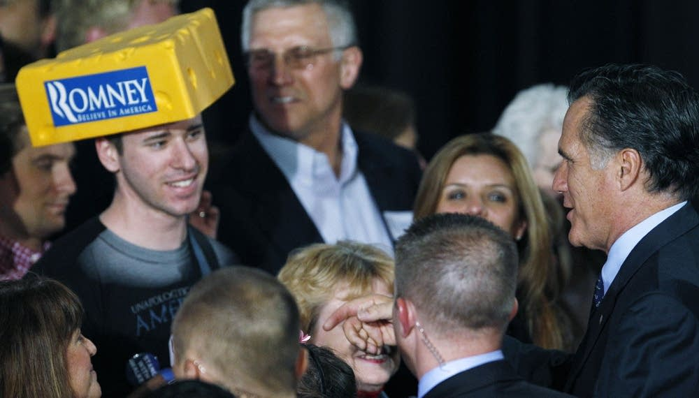 Mitt Romney supporter in Wisconsin