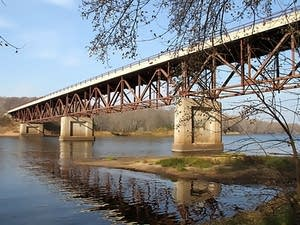 The Highway 243 Bridge crosses the Saint Croix River at Osceola, Wisc.