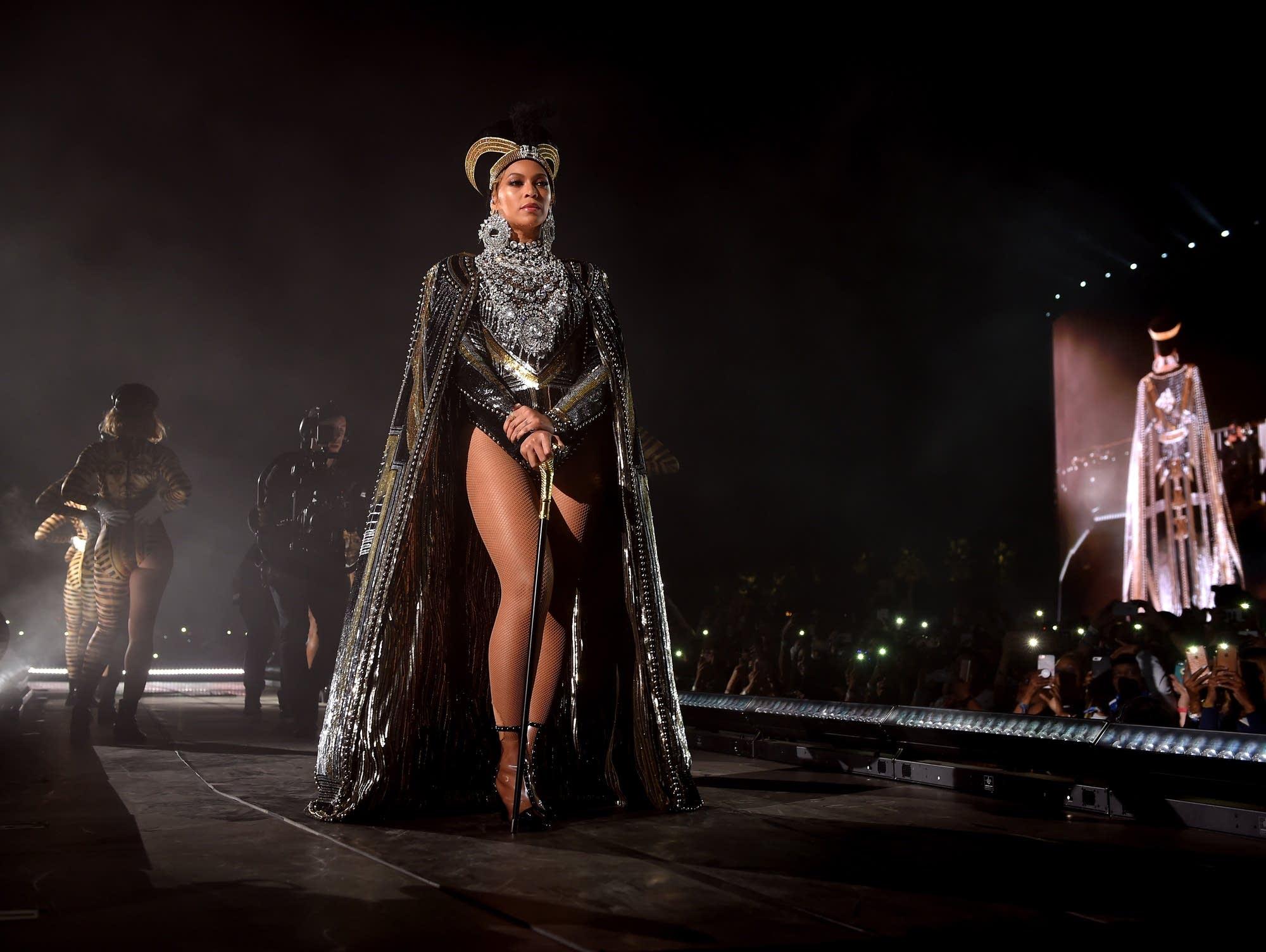 Beyonce performs at Coachella, 2018.