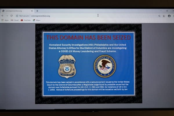 A website displayed on a screen.