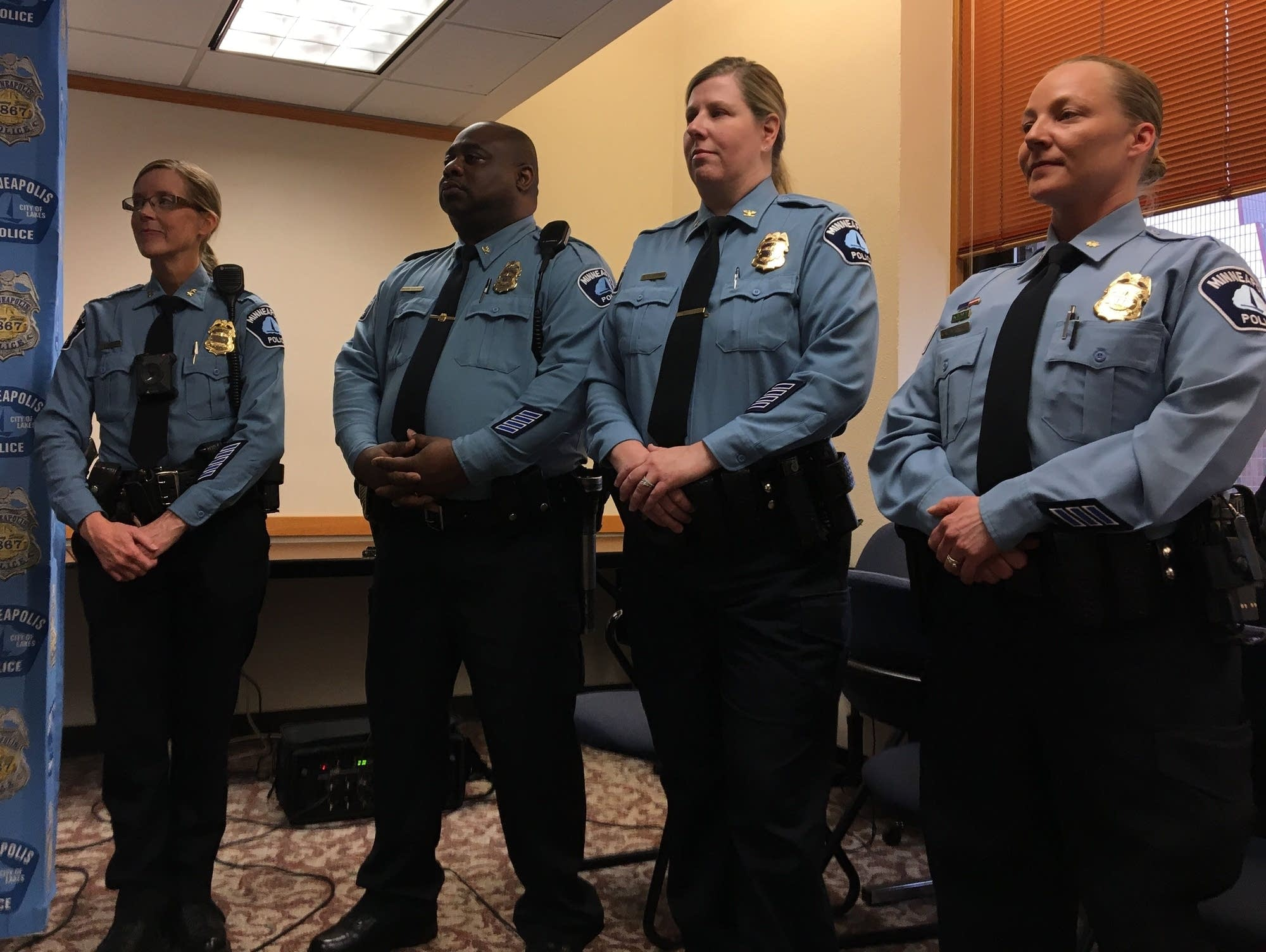 Deputy chief Waite, inspector Pulphus, inspector Huffman, Sgt. Blackwell
