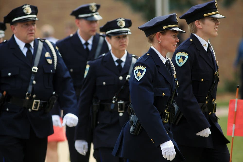 Members of the Madison Police Dept. Honor Guard