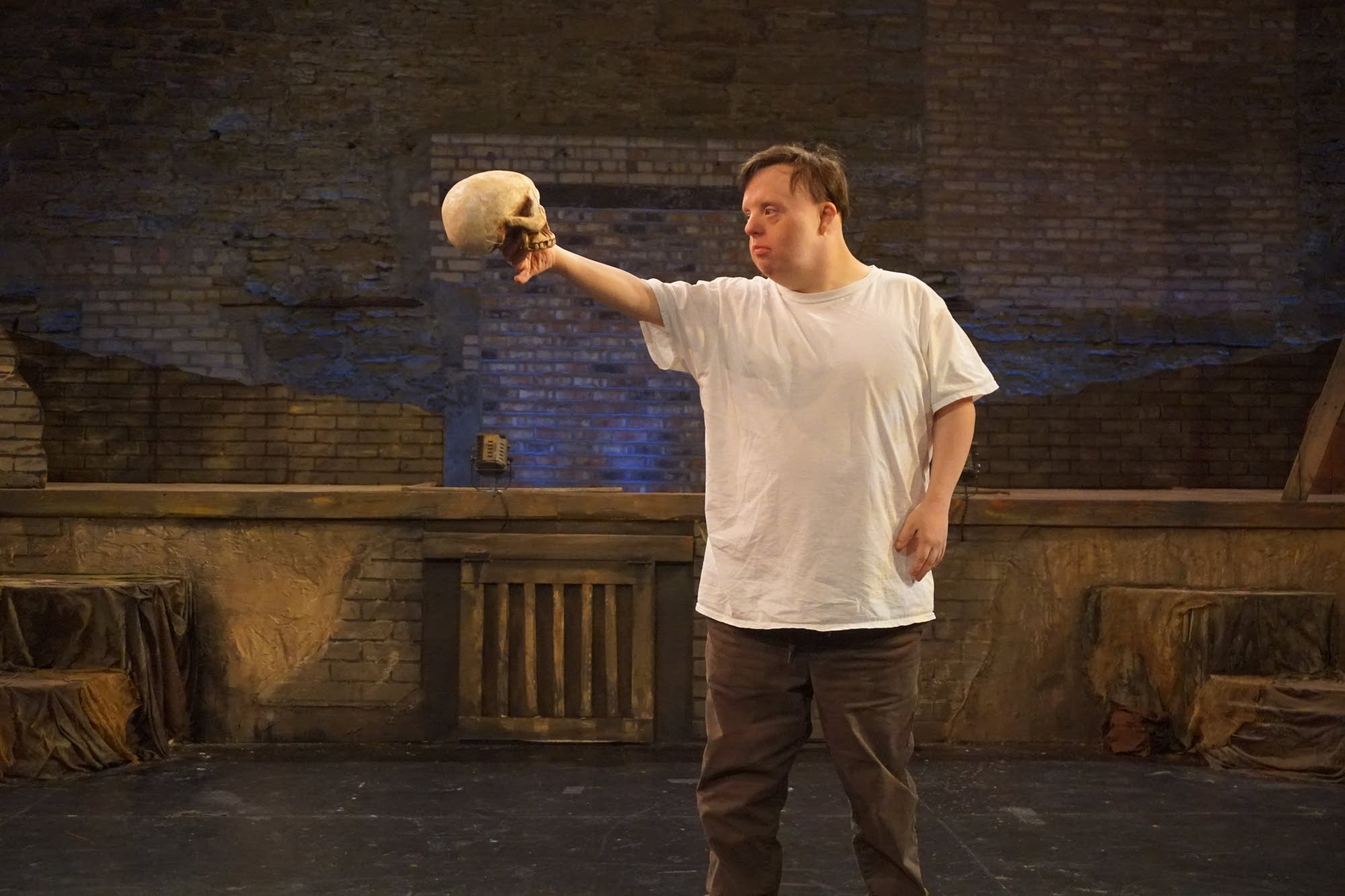 Matt Dahlstrom in the role of Hamlet