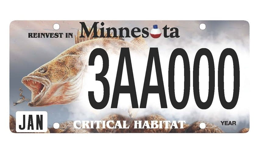 New Plates Could Put A Walleye Chickadee Or Whitetail On