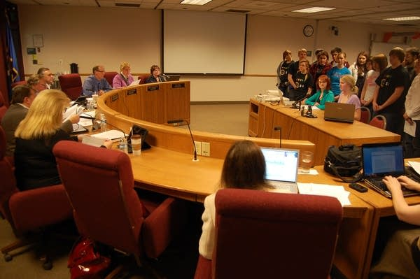 Students address the school board