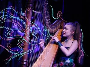 Joanna Newsom performs on Late Night with Seth Meyers on March 16, 2016.