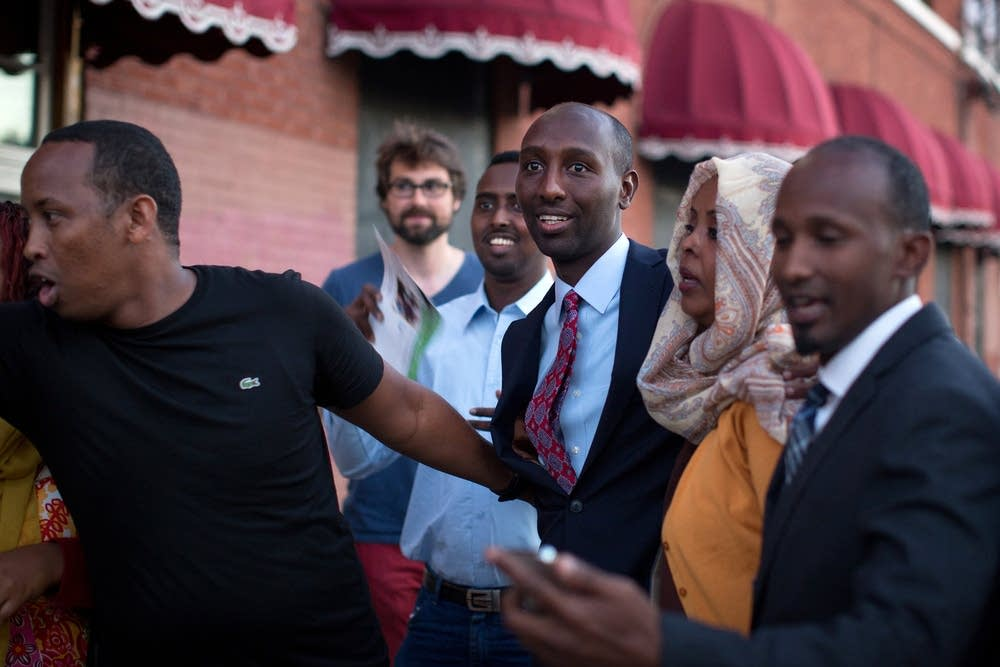 Mohamud Noor at his campaign headquarters
