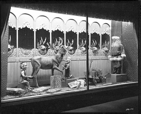 A Dayton's Christmas window display