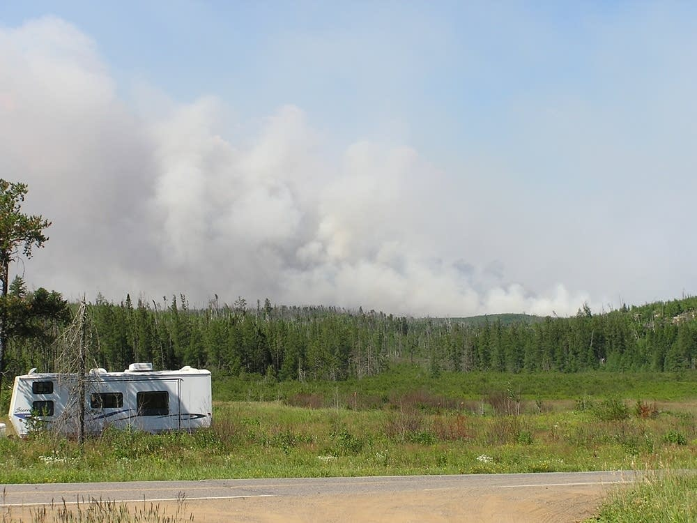 Smoke seen over the Gunflint Trail