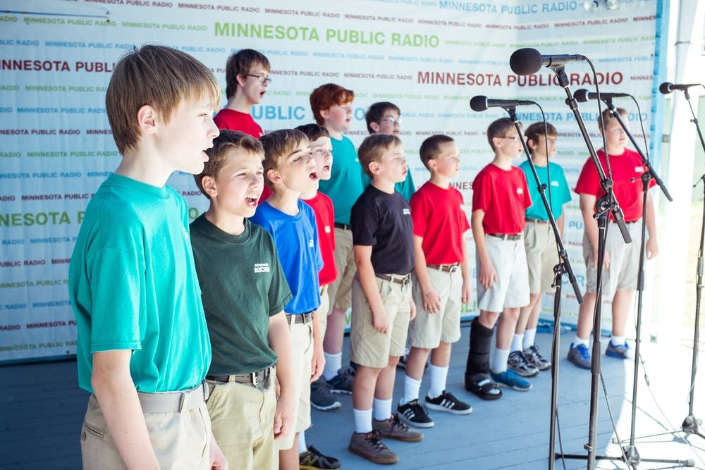 minnesota boychoir, state fair, stage