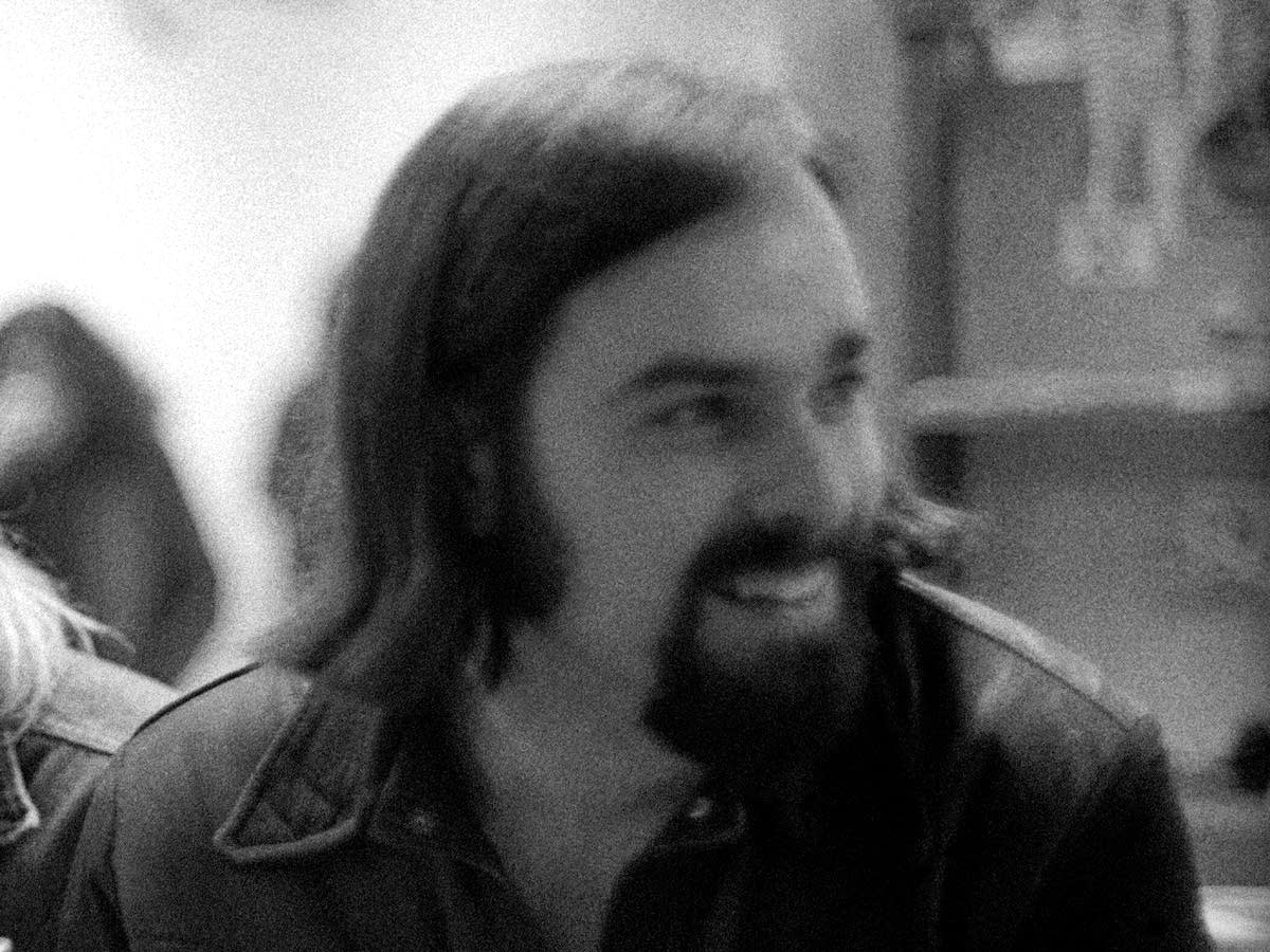 Ed Ward during the Rolling Stone office Christmas party, December 1970