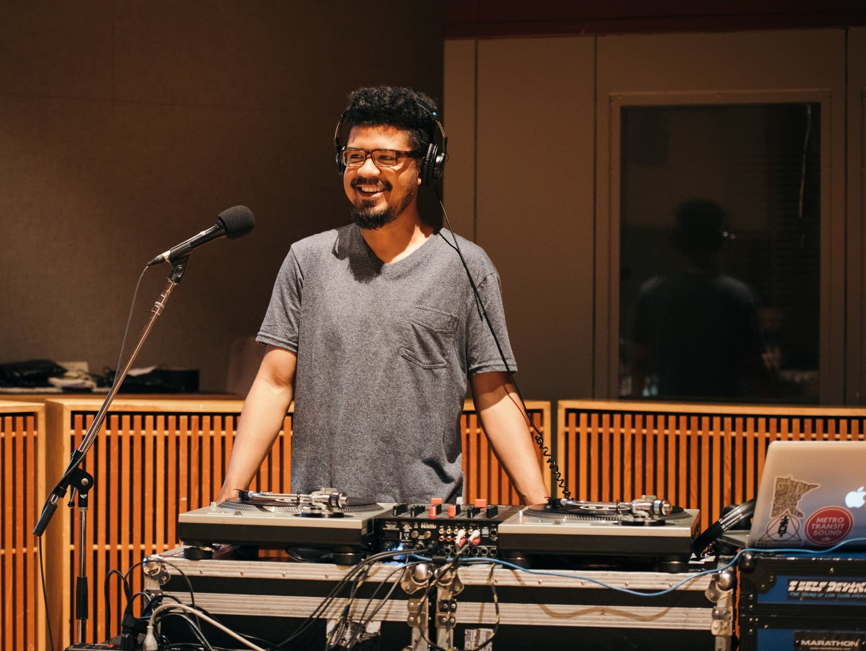 DJ Just Nine performs with Tufawon in The Current studio.