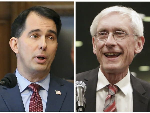 Scott Walker,Tony Evers in tight race for Wisc. governor