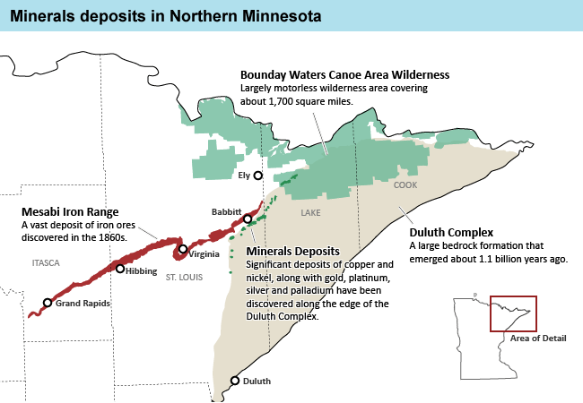 At The Edge Of The Boundary Waters Miners Probe For Copper - Us map showing boundary waters minnesota