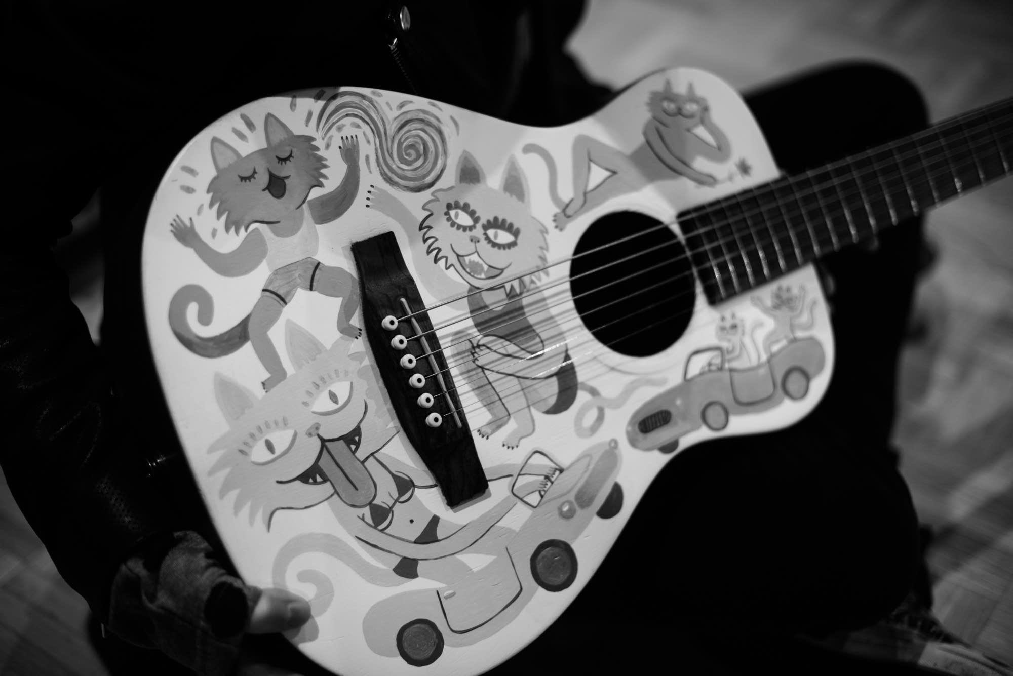 Tegan Quin's guitar