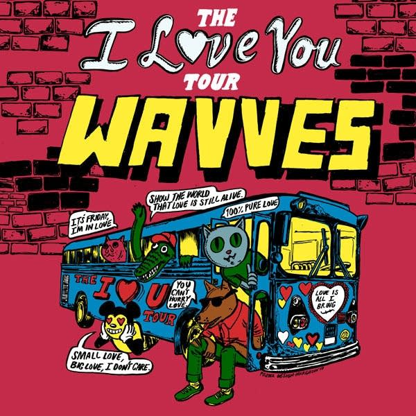 Wavves 2018 Tour Poster