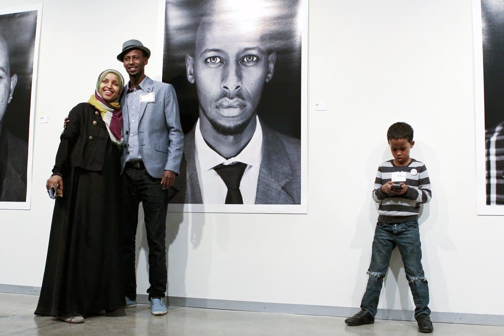 Ahmed Hirsi and his wife, Ilhan Omar