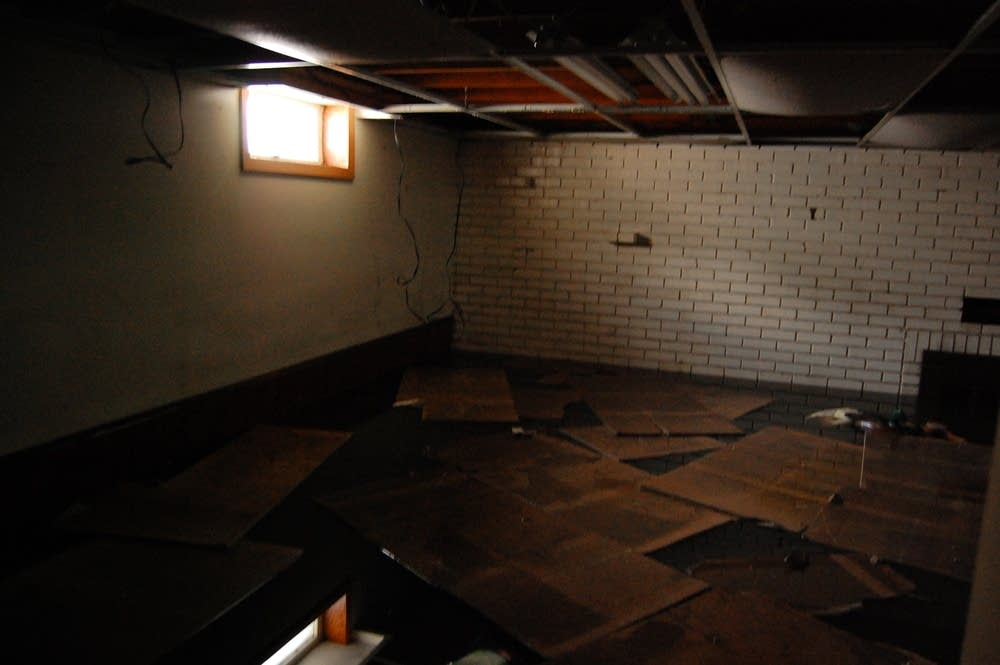 Mark Olgard's flooded basement
