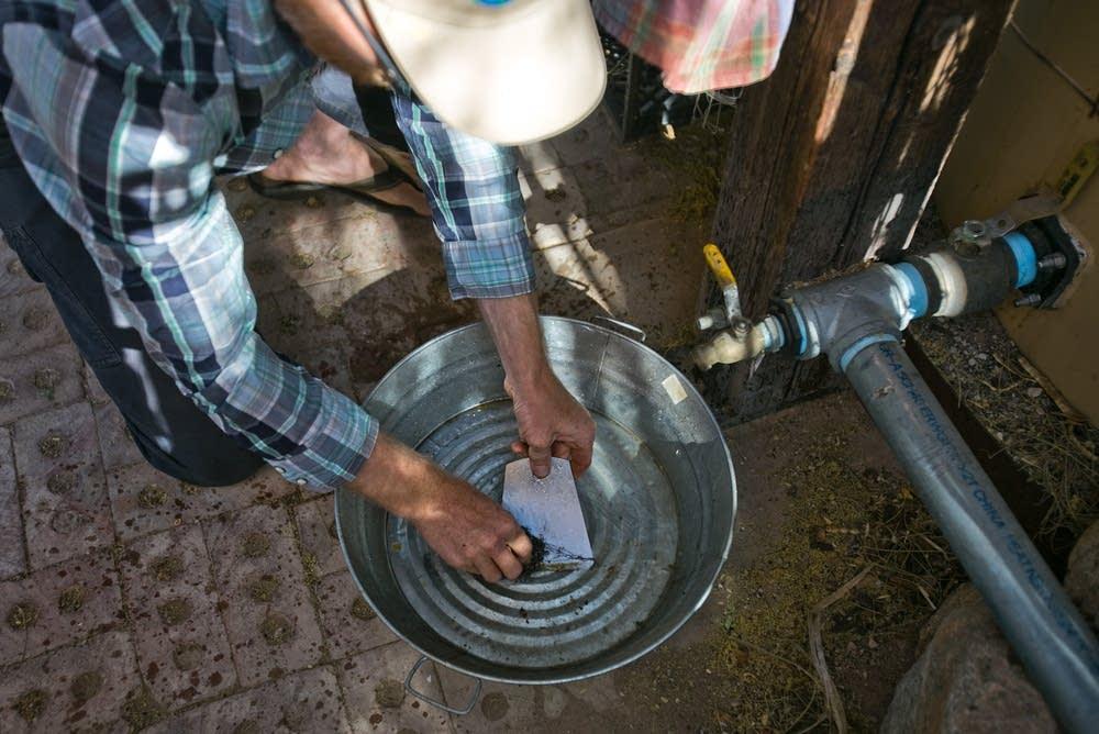 Rainwater washing