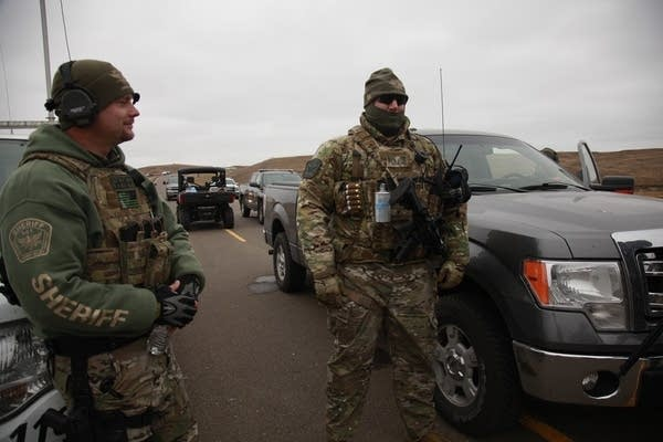 Two members of the Stutsman County SWAT team