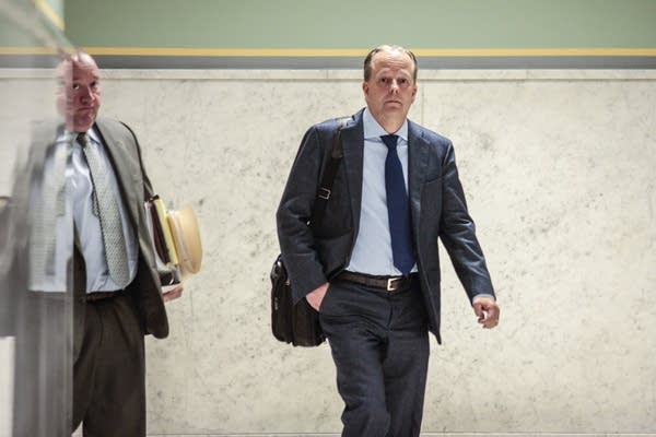 Stephen Frenz walks into the courtroom after a lunch break on Thursday.