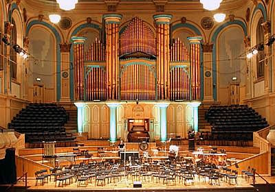 1861 Hill organ at Ulster Hall, Belfast, Northern Ireland, UK