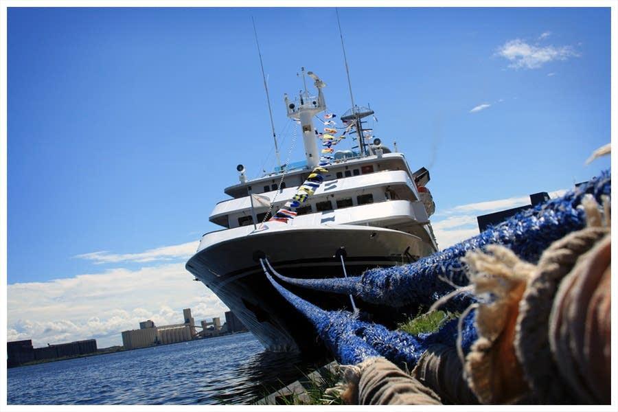 The Clelia II cruise ship on Lake Superior