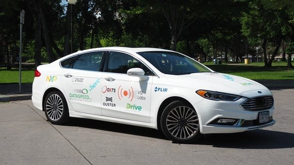 The Ford Fusion equipped with autonomous technology from VSI Labs