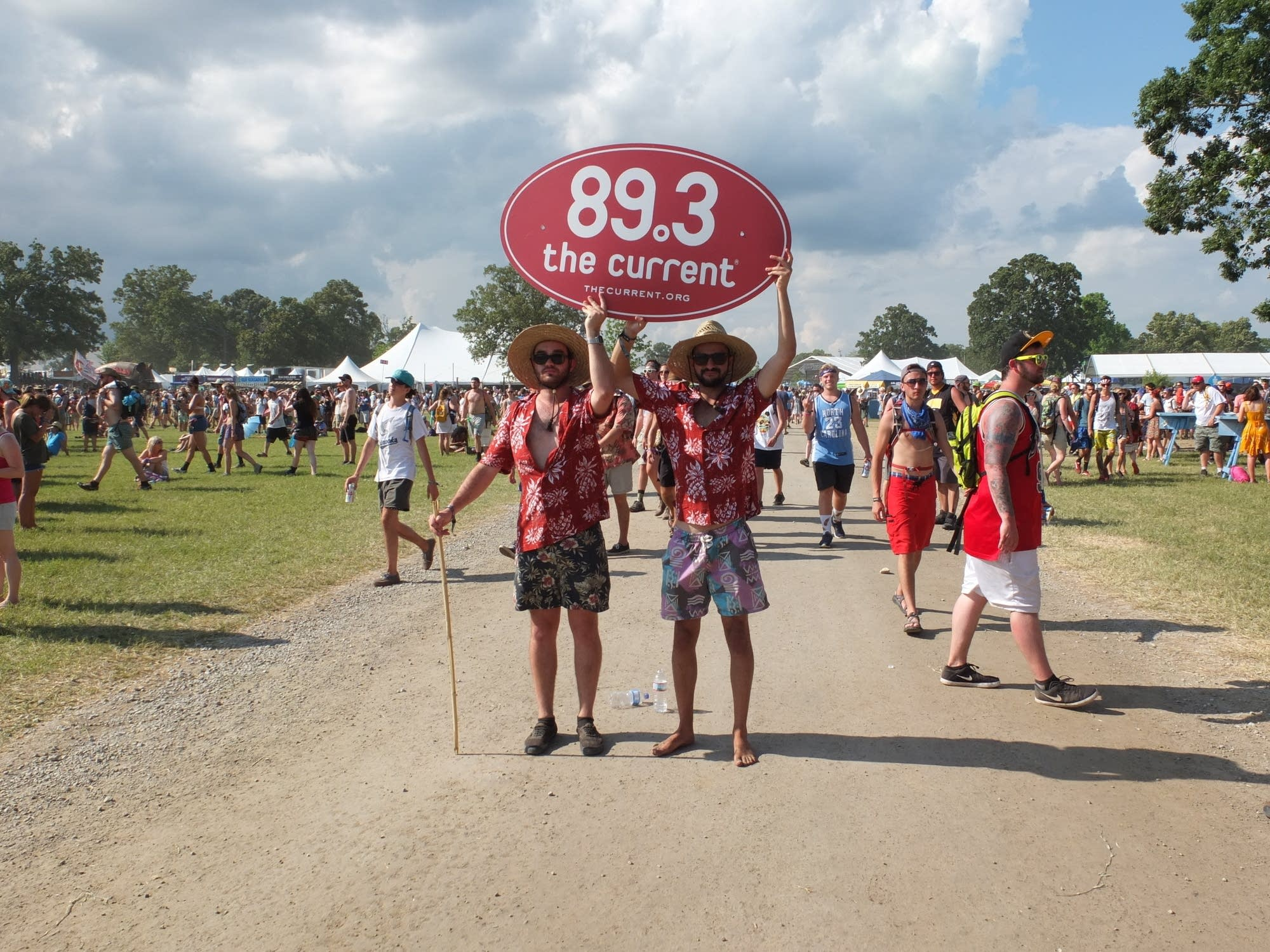 Fans of The Current at Bonnaroo.
