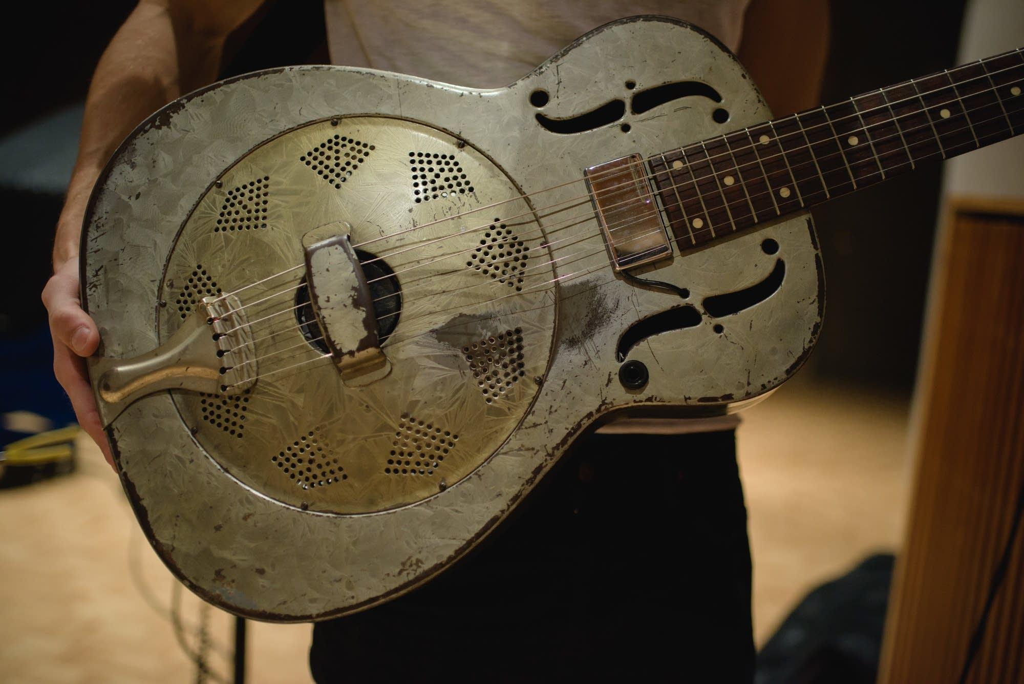 1935 National Guitar, showing humbucker