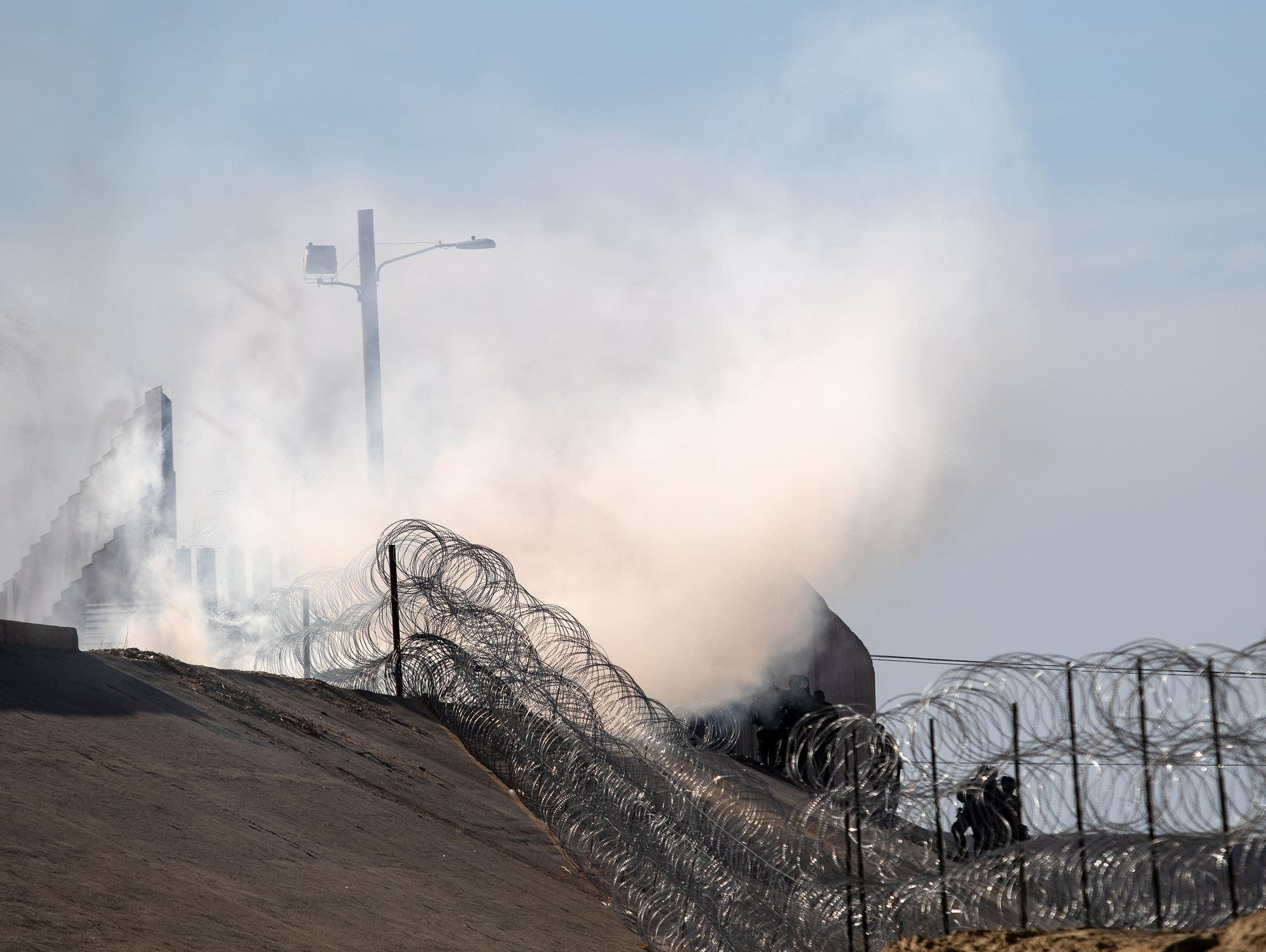 Tear gas used by the U.S. Border Patrol