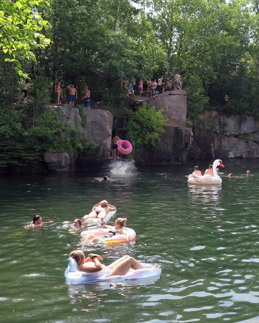 On hot days, thrill-seekers flock to Stearns County's Quarry