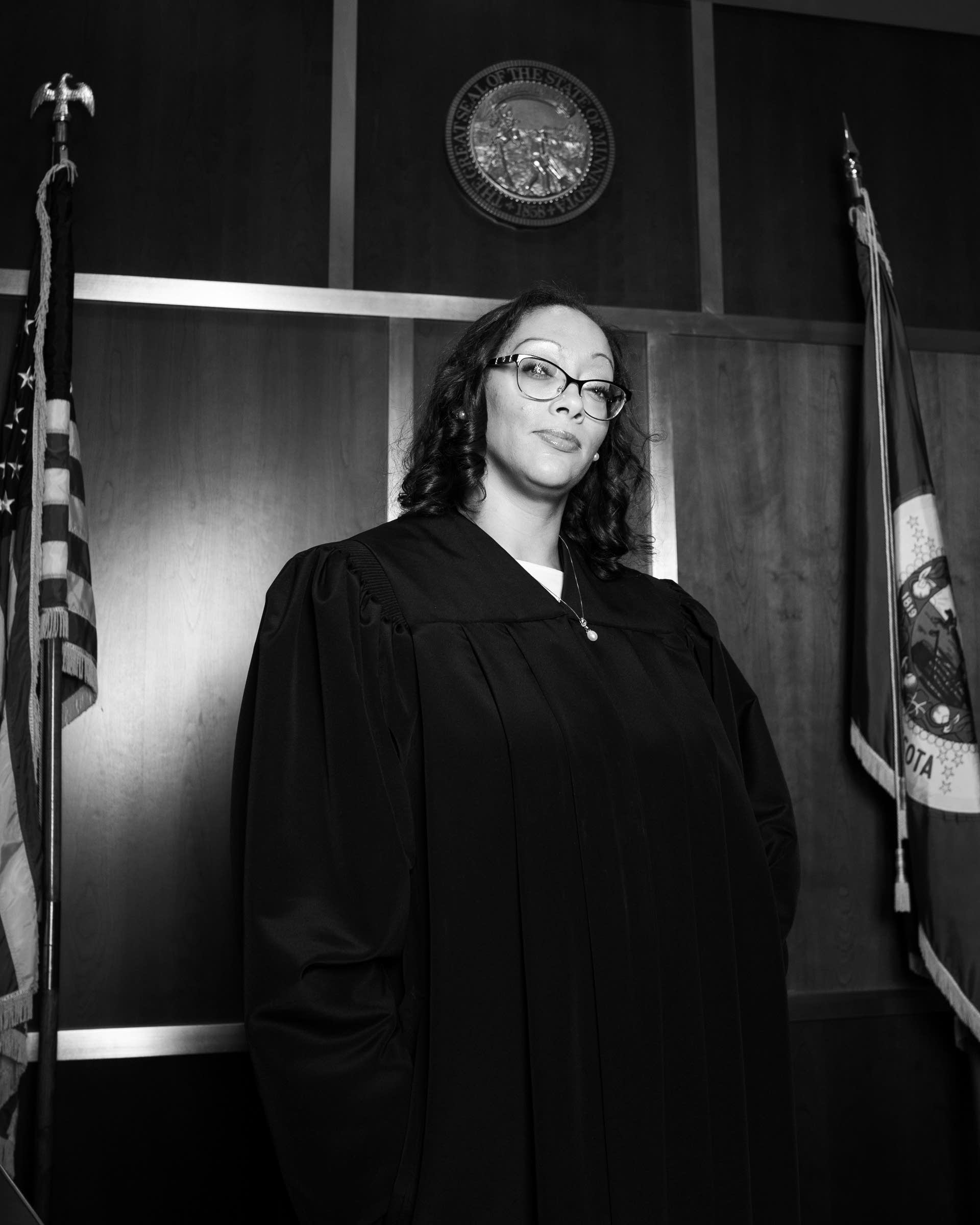 Washington County Judge Juanita Freeman stands for a portrait.