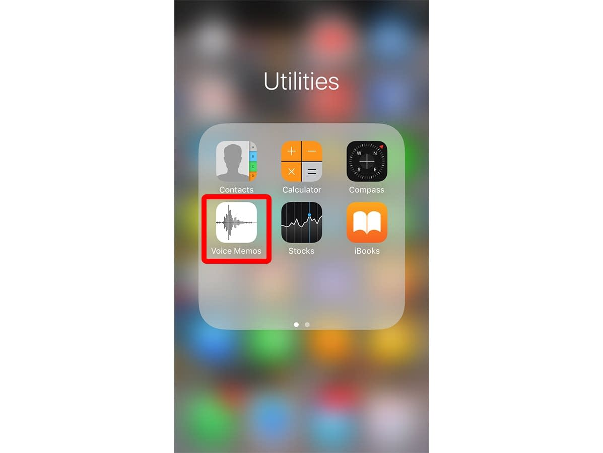 Open the Voice Memo app