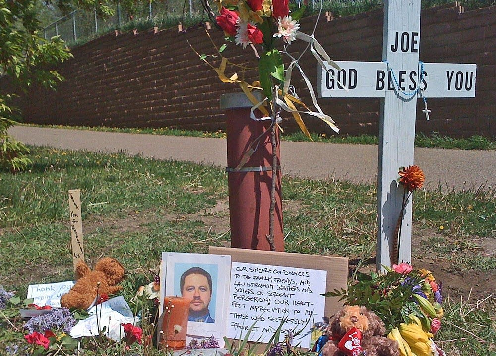 Memorial to slain officer