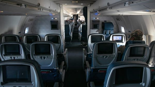 Delta flight from Seattle-Tacoma International Airport flies nearly empty