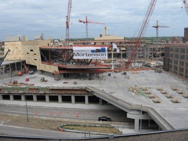 Ballpark under construction