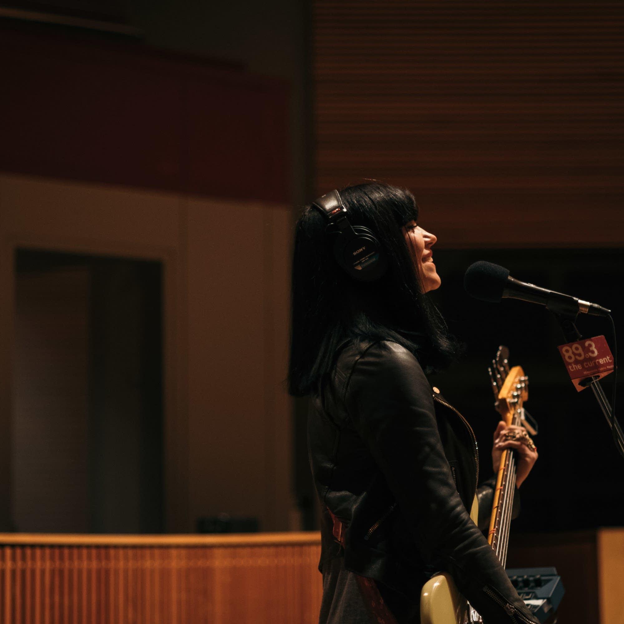 Khruangbin perform in The Current studio