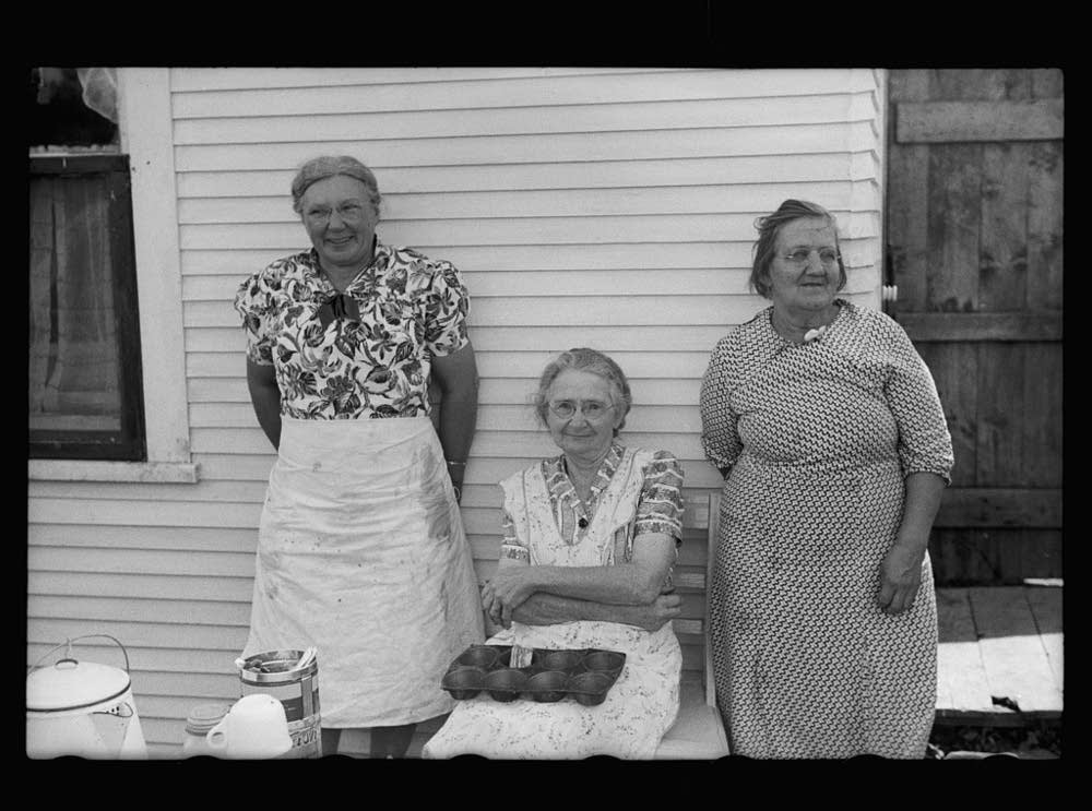Ladies serving lunch