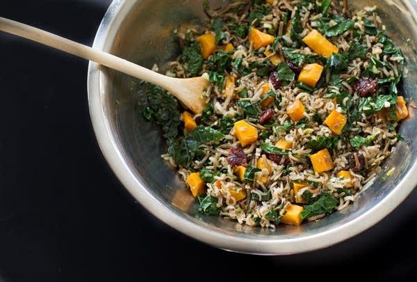 Minnesota Wild Rice & Butternut Squash Salad