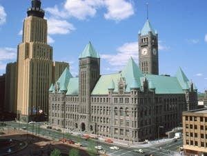 Minneapolis City Hall in approximately 1980