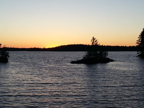 Burntside solstice sunset
