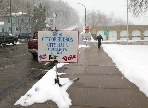 Voters in Hudson, Wisc., came to cast a ballot in a special election.