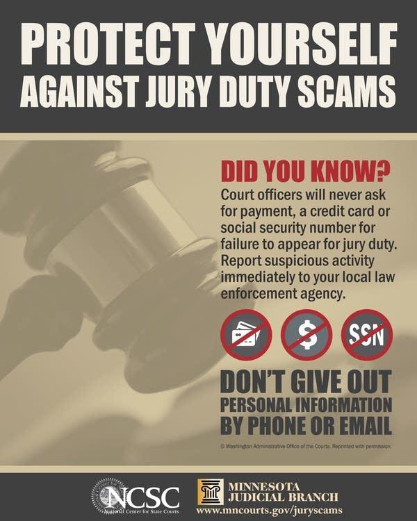 Beware of fake jury duty scams seeking money, info | MPR News
