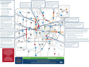 Metro area weekend traffic impacts for June 23-26.