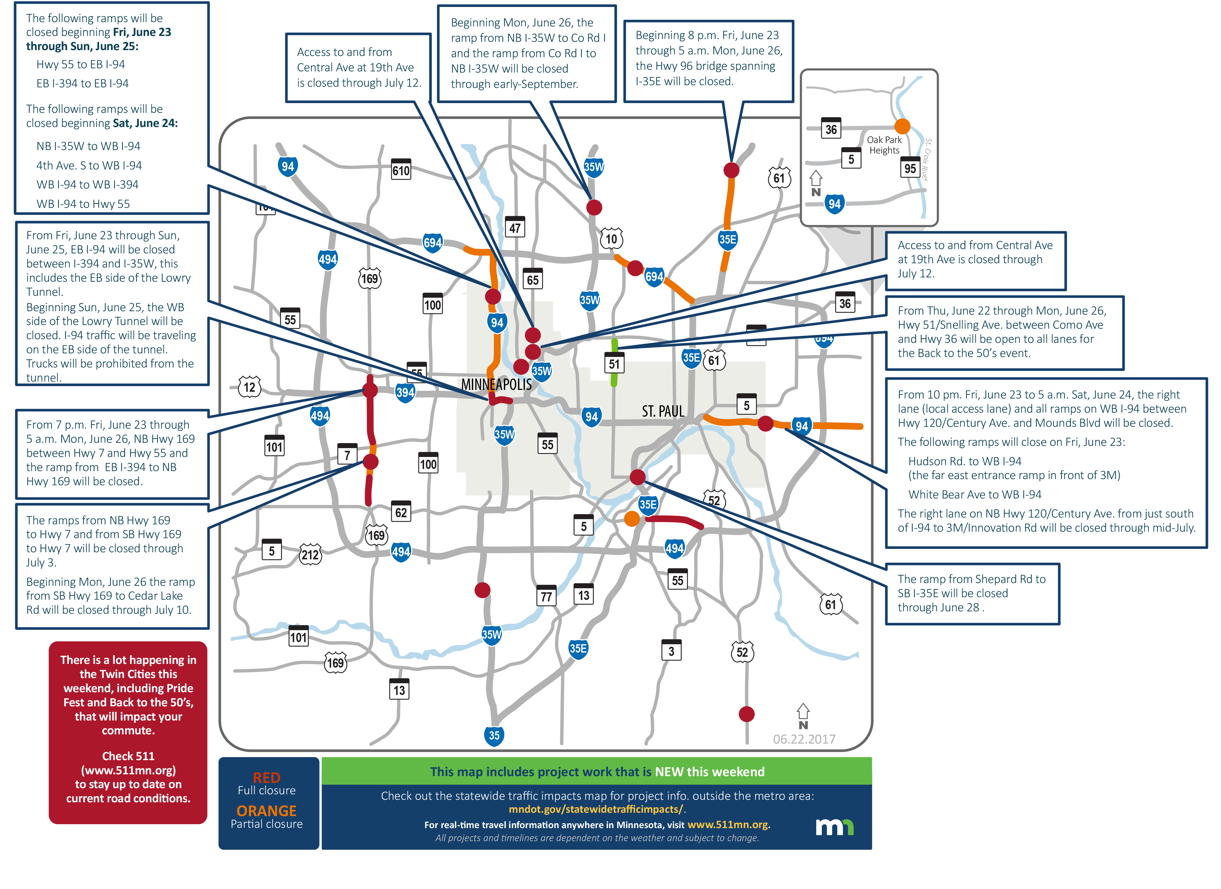 Uh, boy: Twin Cities weekend road hles will not be fun | MPR News Traffic Map Minneapolis on city traffic map, new orleans traffic map, manila traffic map, washington traffic map, dallas fort worth traffic map, hampton roads traffic map, minneapolis real-time traffic, hawaii traffic map, massachusetts traffic map, minneapolis roads, minneapolis events, las vegas traffic map, minneapolis library, minneapolis weather, texas traffic map, galveston traffic map, san francisco bay area traffic map, buffalo traffic map, orlando traffic map, mississippi traffic map,