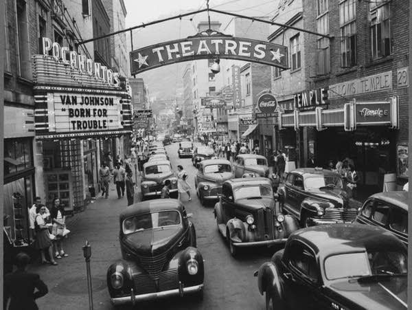 Downtown Welch in 1946