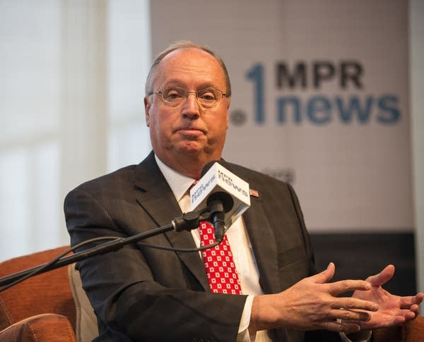 Republican candidate Jim Hagedorn speaks at MPR News debate.