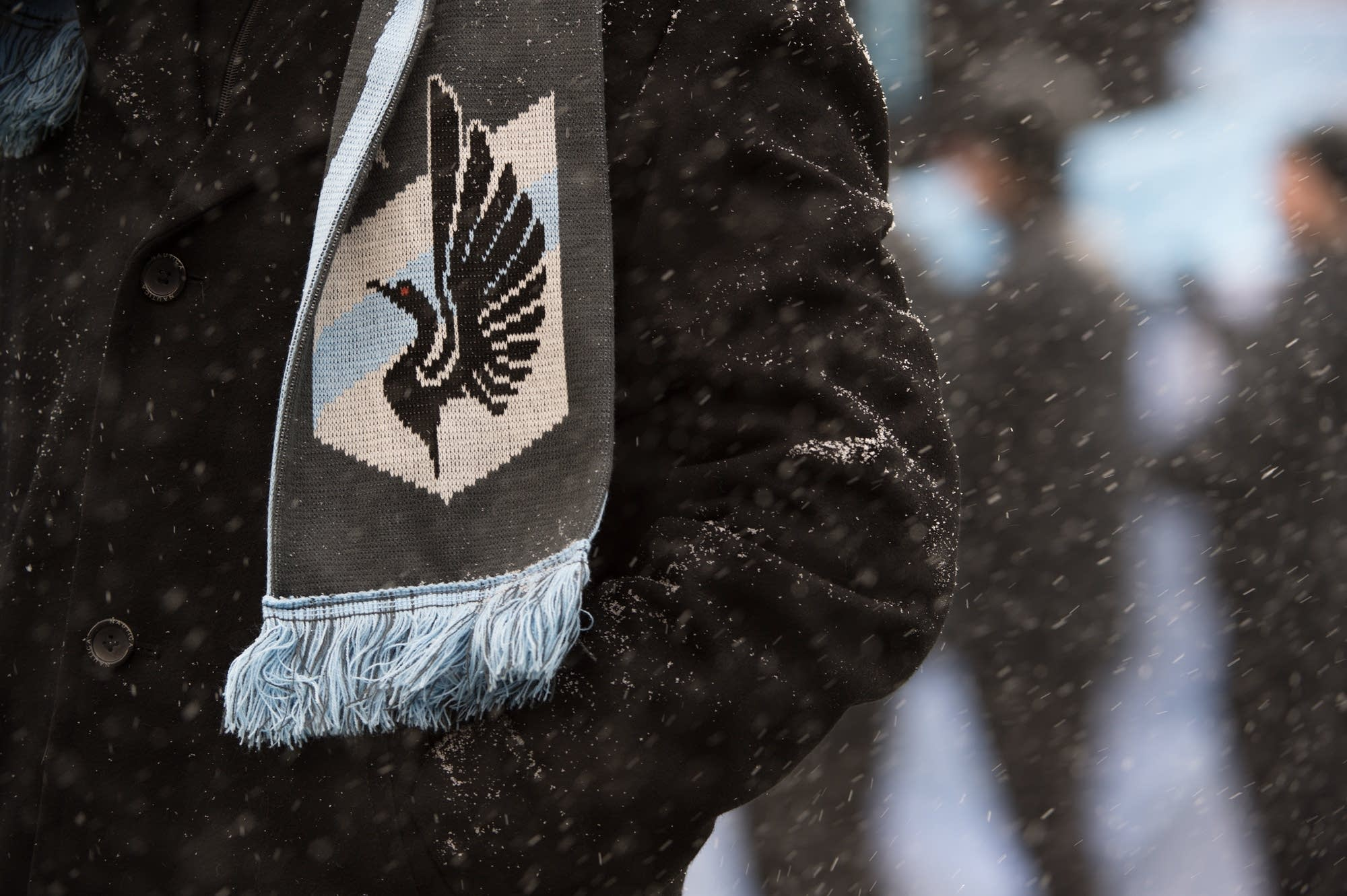 Loons home opener in the snow.