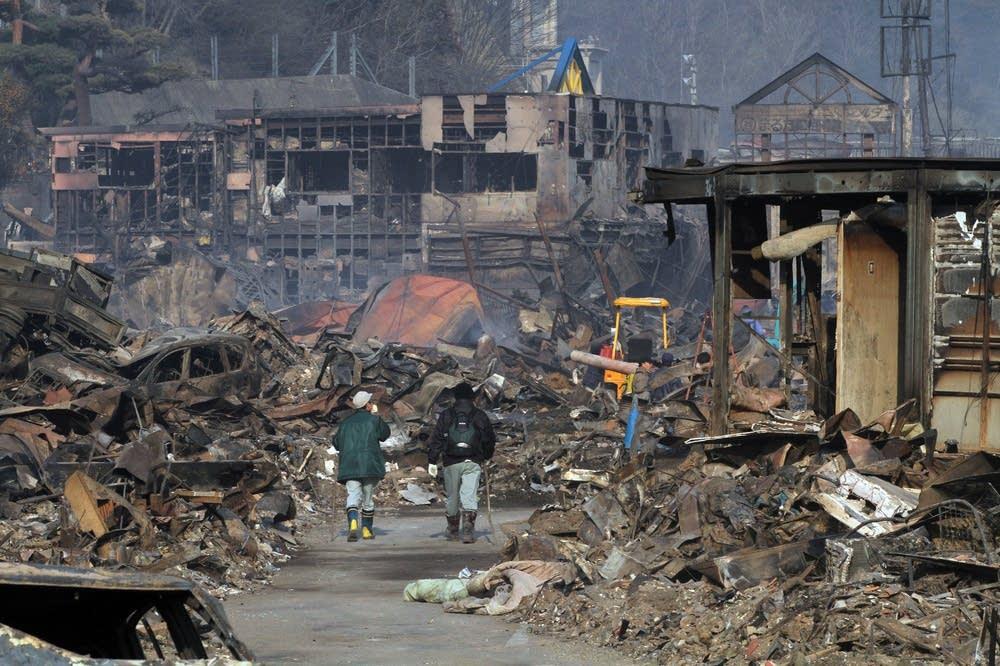 Devastation in Otsuchi